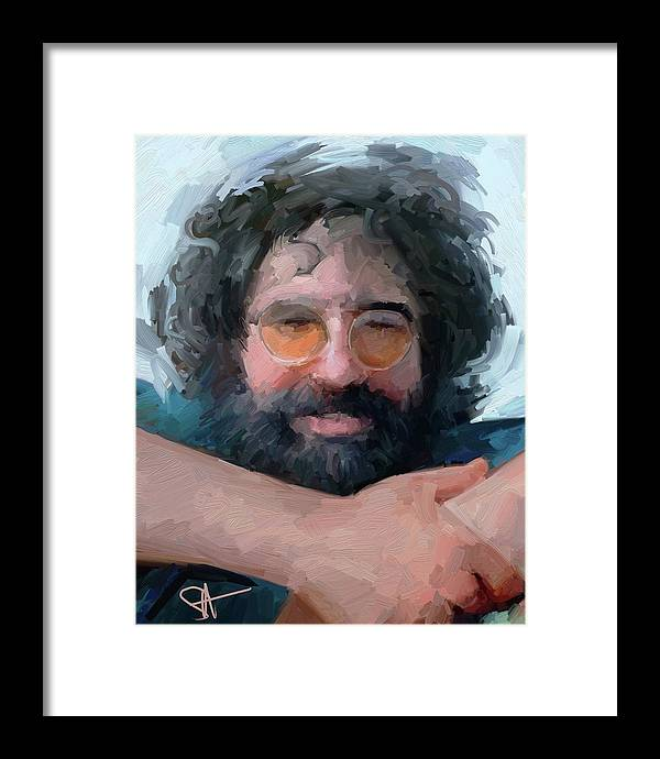 Jerry Framed Print featuring the digital art Jerry by Scott Waters