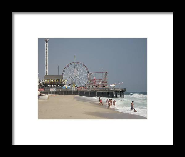 Beach Framed Print featuring the photograph Jersey Shore Summer by Jennifer Sweet