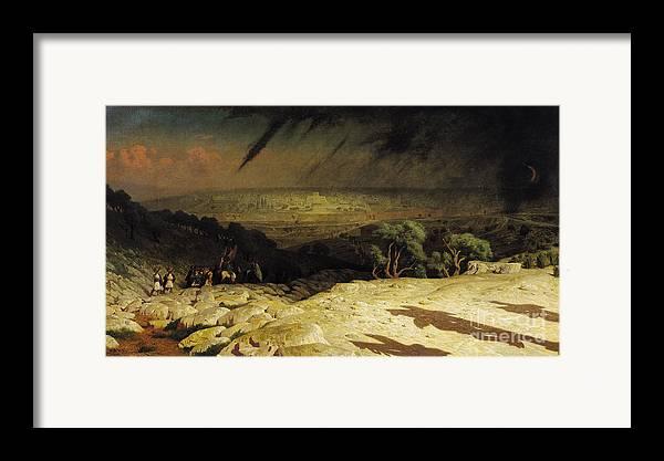 Jerusalem Framed Print featuring the painting Jerusalem by Jean Leon Gerome