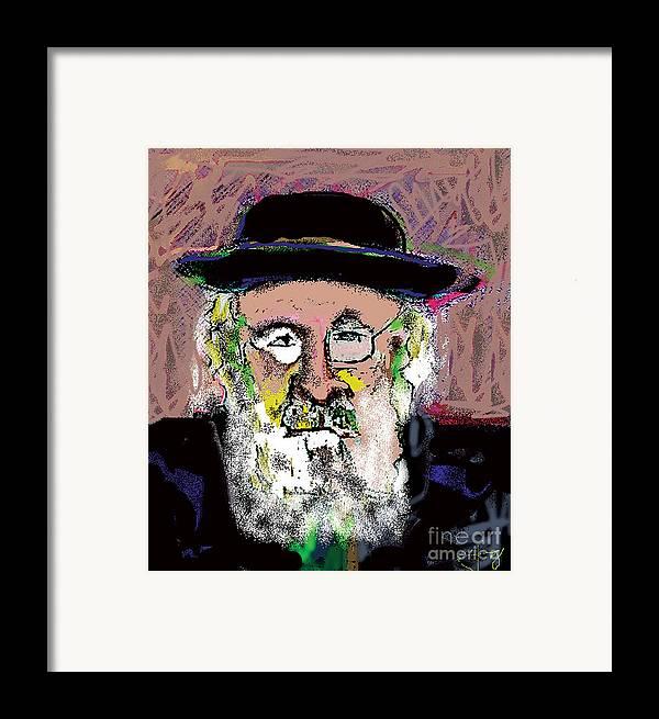 Portrait Framed Print featuring the mixed media Jerusalem Man No. 2 by Joyce Goldin