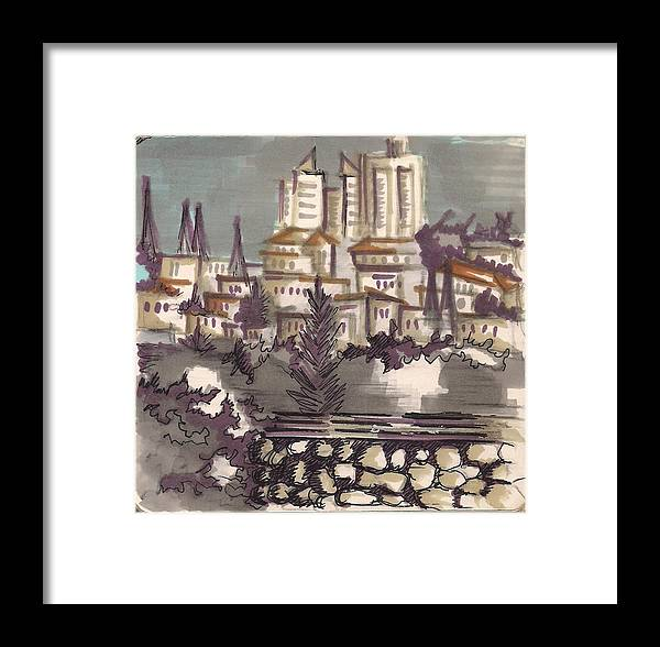 Framed Print featuring the painting Jerusalem by Popa Andreea