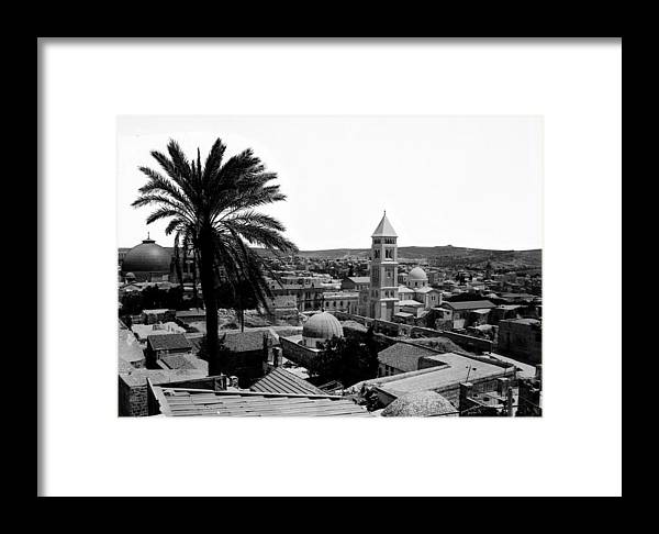 Jerusalem Framed Print featuring the photograph Jerusalem View From The Southwest by Munir Alawi