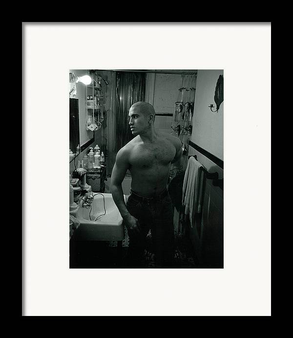 Portrait Framed Print featuring the photograph Jesse After Shaving His Head by Rusty Walton