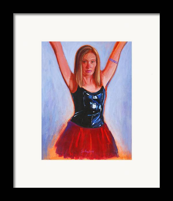 Woman Framed Print featuring the painting Jesse by John Tartaglione