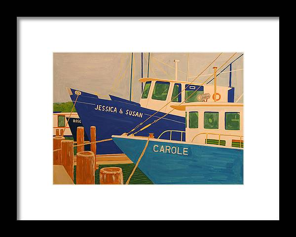 Marine Framed Print featuring the painting Jessica and Susan by Biagio Civale