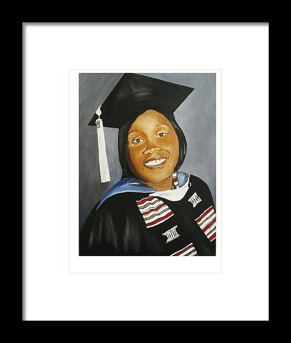 Portrait Framed Print featuring the painting Jessie by Angelo Thomas