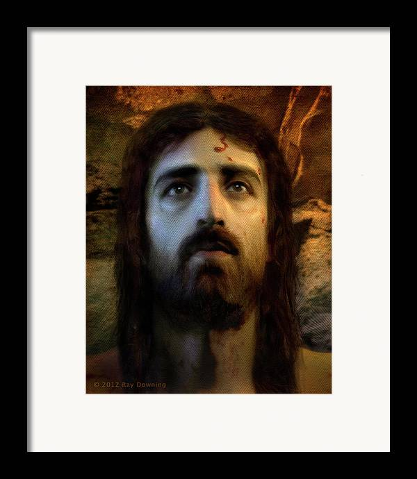 Jesus Framed Print featuring the digital art Jesus Alive Again by Ray Downing