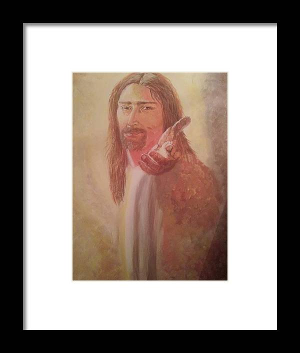Jesus Framed Print featuring the painting Jesus by Bonnie Davis