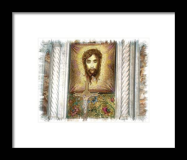 Jesus Framed Print featuring the photograph Jesus I by Rose Guay