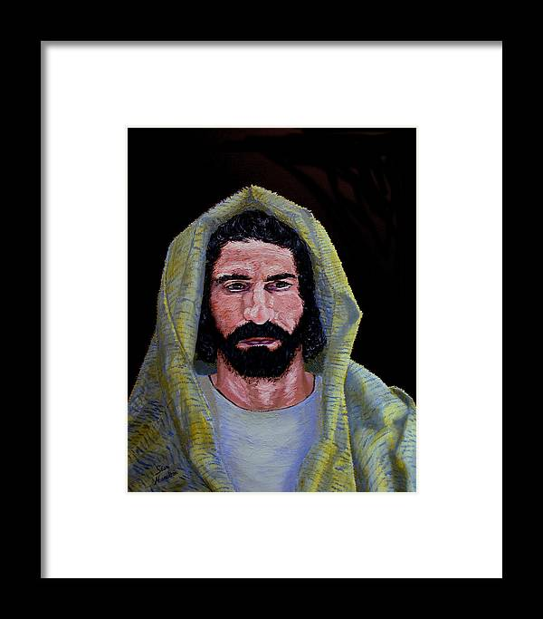 Jesus Christ Framed Print featuring the painting Jesus In Contemplation by Stan Hamilton