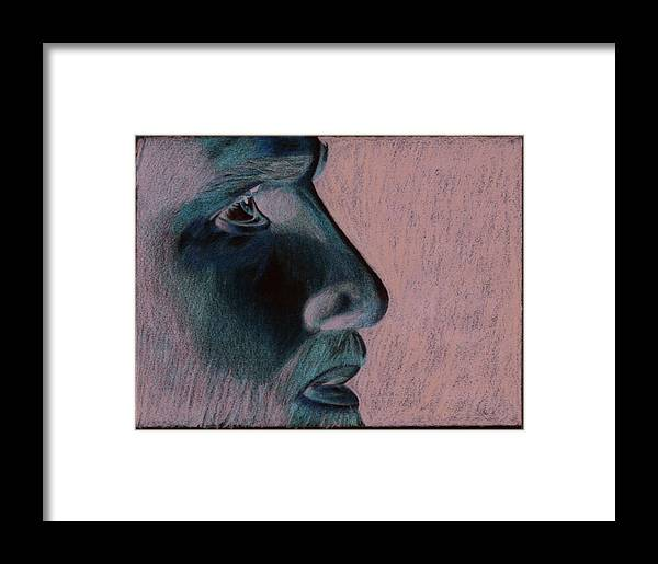 Jesus Framed Print featuring the drawing Jesus by Jason McRoberts