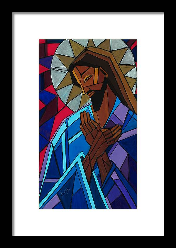 Jesus Framed Print featuring the painting Jesus by Mary DuCharme