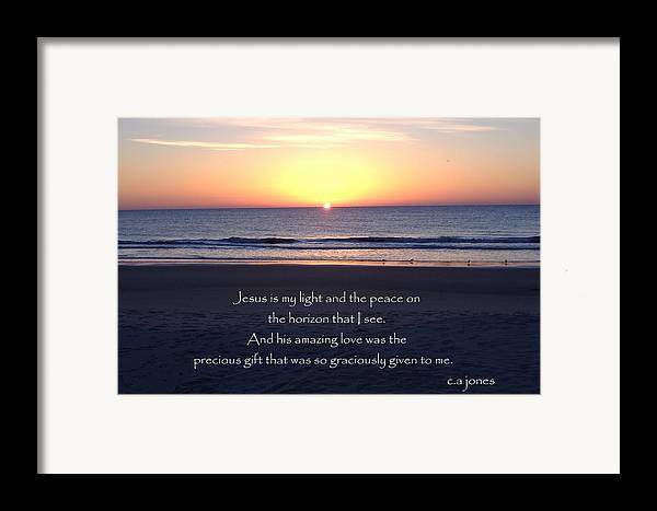 Christian Framed Print featuring the photograph Jesus My Light by Chris Jones
