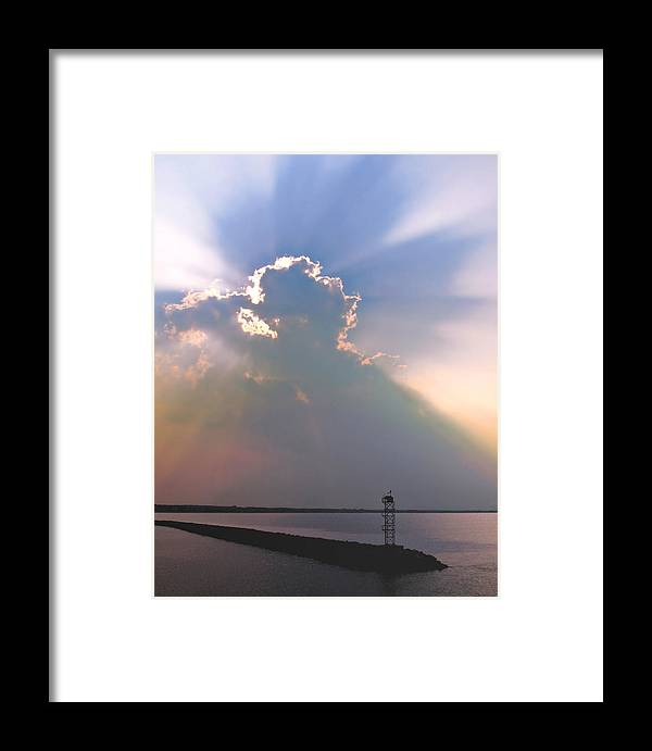 Jetty Framed Print featuring the photograph Jetty by Julie Geiss