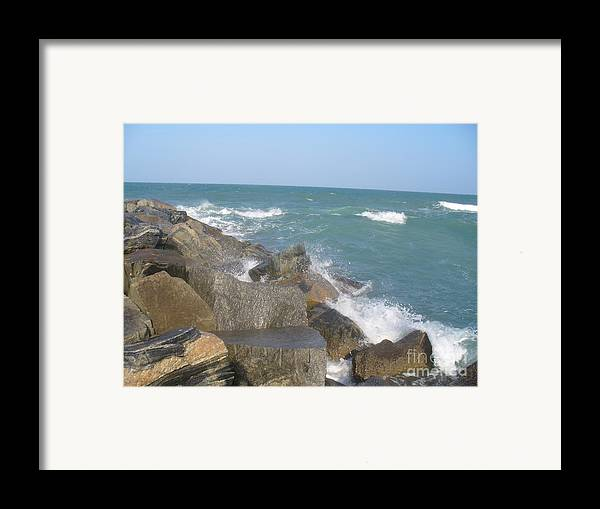 Jetty Framed Print featuring the photograph Jetty by Stephanie Richards