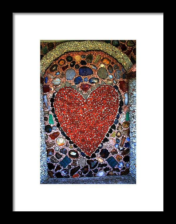 Jewel Heart Framed Print featuring the photograph Jewel Heart by Susanne Van Hulst
