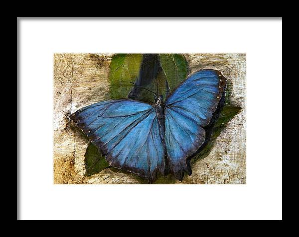 Butterfly Framed Print featuring the painting Jewel Of The Garden by Merle Blair