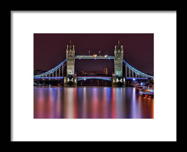 Tower Bridge Framed Print featuring the photograph Jewel Of The Night by Evelina Kremsdorf