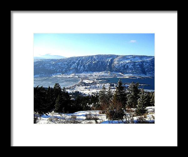 Oyama Framed Print featuring the photograph Jewel Of The Okanagan by Will Borden