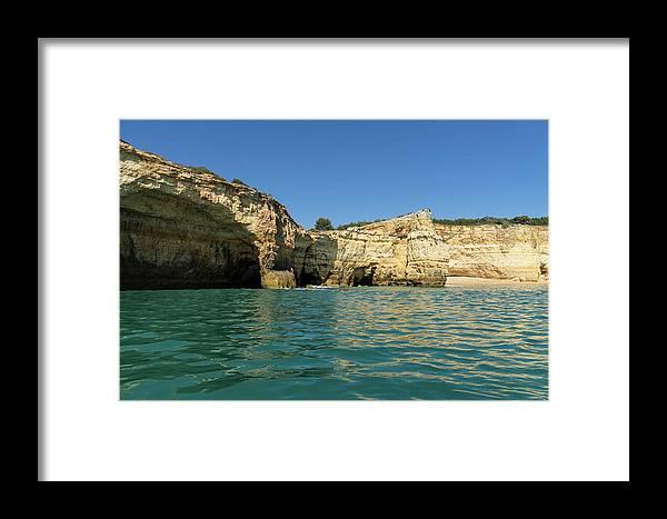 Georgia Mizuleva Framed Print featuring the photograph Jewel Toned Ocean Art - Gliding By Sea Caves And Secluded Beaches by Georgia Mizuleva