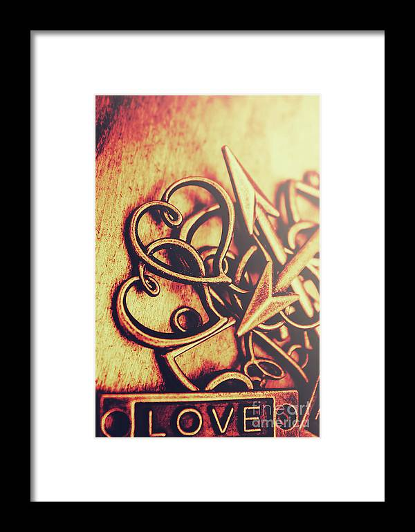 Gift Framed Print featuring the photograph Jewelry Love Background by Jorgo Photography - Wall Art Gallery