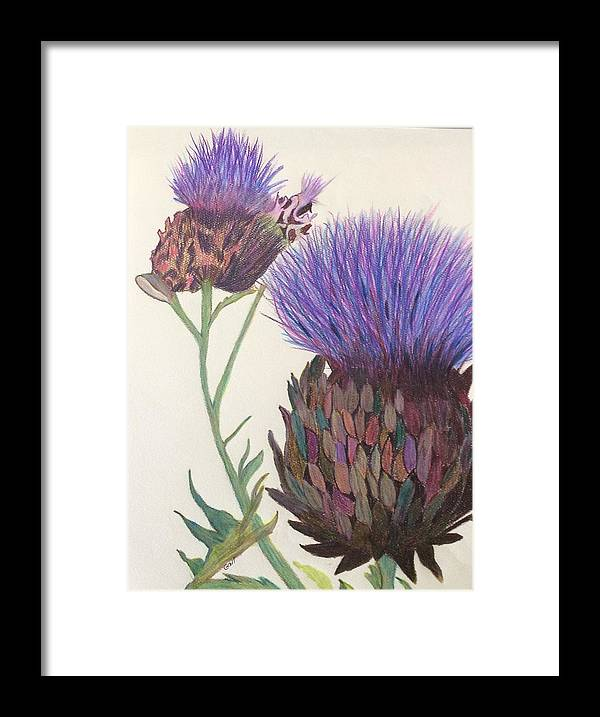 Flower Framed Print featuring the painting Jewels by Gail Grundberg Judd