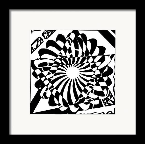Jewish Framed Print featuring the drawing Jewish Pride Maze by Yonatan Frimer Maze Artist