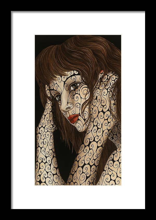 Figurative Framed Print featuring the painting Jezebel by Tina Blondell