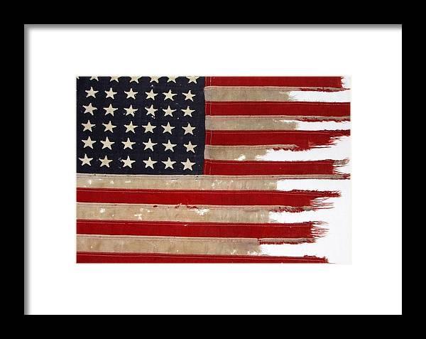 Flag Framed Print featuring the photograph Jfk's Pt-109 Flag by Lori Pessin Lafargue