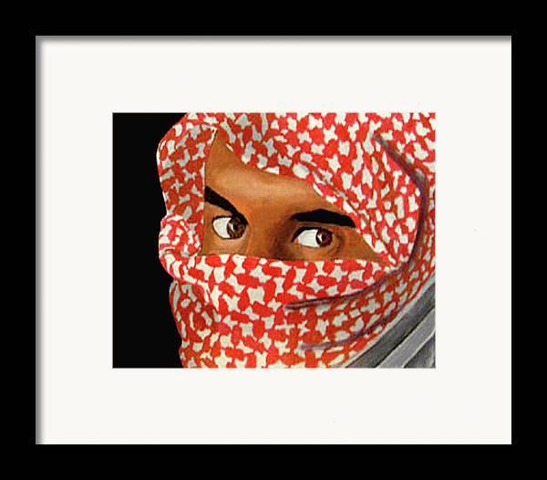 Iraqi Framed Print featuring the painting Jihadi by Darren Stein