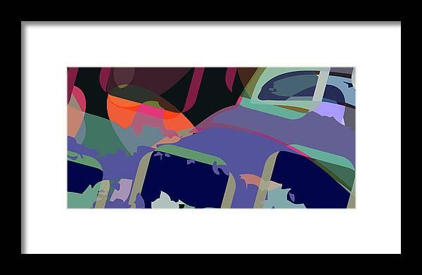 Abstract Framed Print featuring the digital art Jim 6 by Scott Davis