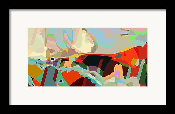Abstract Framed Print featuring the digital art Jim 8 by Scott Davis