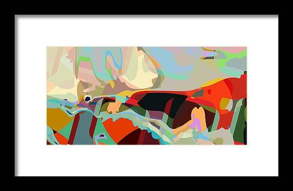 Abstract Framed Print featuring the digital art Jim 8 by Scott Davis