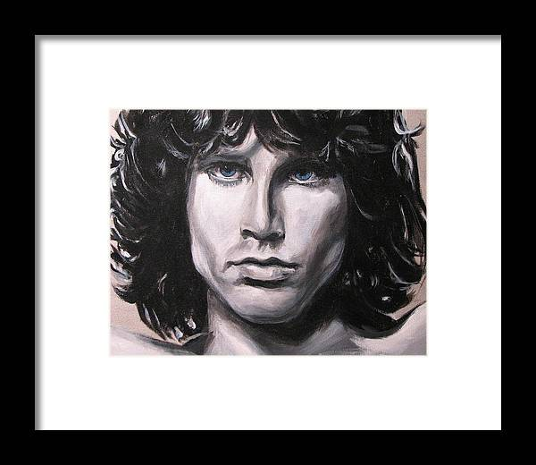 Jim Morrison Framed Print featuring the painting Jim Morrison - The Doors by Eric Dee