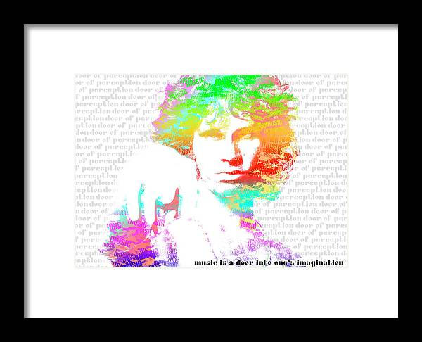 Jim Morrison. Doors Framed Print featuring the digital art Jim Morrison Artwork by Irina Totolici
