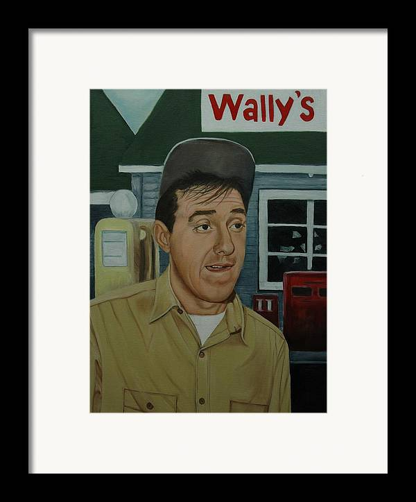 Gomer Framed Print featuring the painting Jim Nabors As Gomer Pyle by Tresa Crain