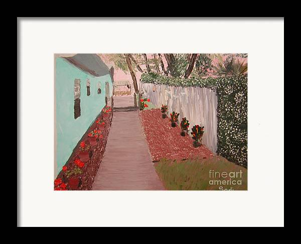 Landscape Framed Print featuring the painting Jim by Sodi Griffin