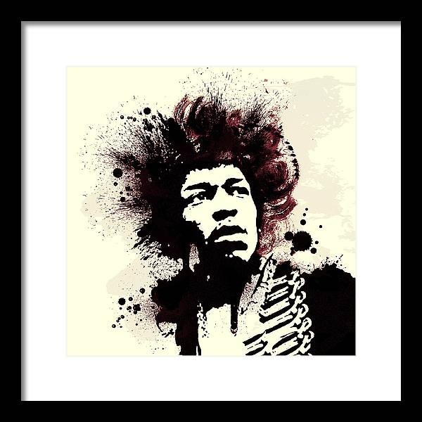 Jimi Hendrix Framed Print featuring the painting Jimi by Laurence Adamson