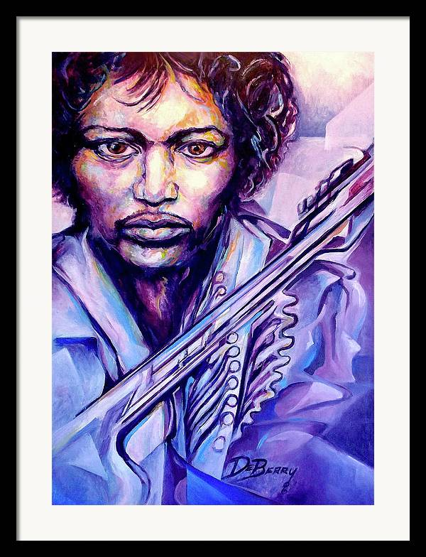 Framed Print featuring the painting Jimi by Lloyd DeBerry