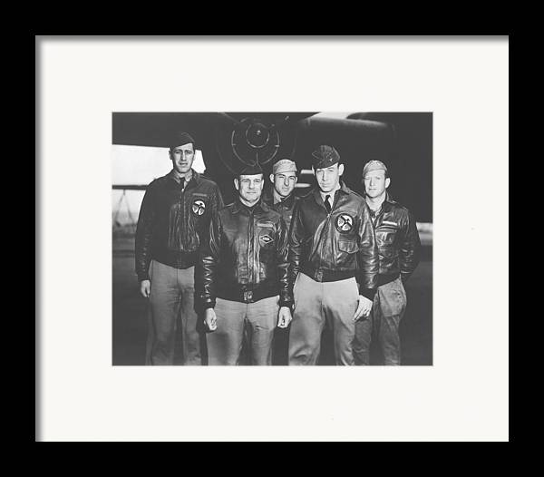 Doolittle Raid Framed Print featuring the photograph Jimmy Doolittle And His Crew by War Is Hell Store