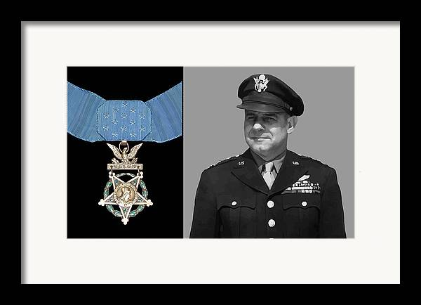 Jimmy Doolittle Framed Print featuring the painting Jimmy Doolittle And The Medal Of Honor by War Is Hell Store