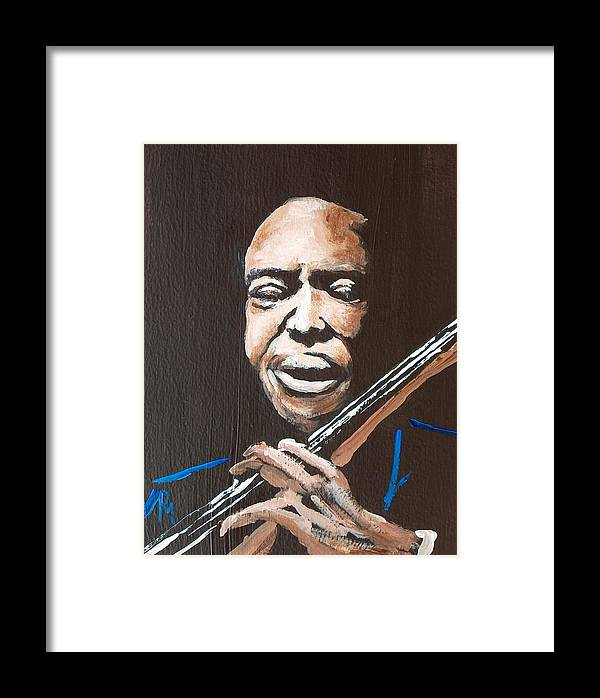 Jazz Framed Print featuring the painting Jimmy Garrison by Pete Maier