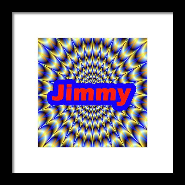 Men Framed Print featuring the digital art Jimmy by Mitchell Watrous