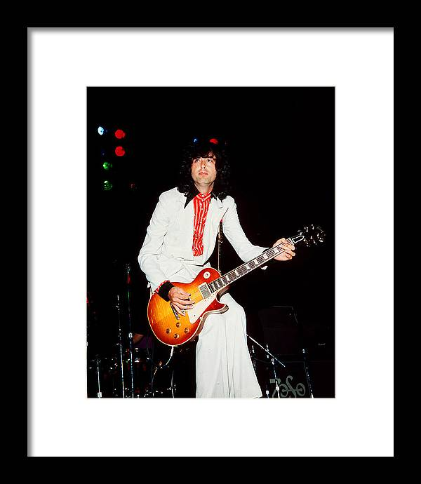 Jimmy Page Framed Print featuring the photograph Jimmy Page Of Led Zeppelin by James Fortune