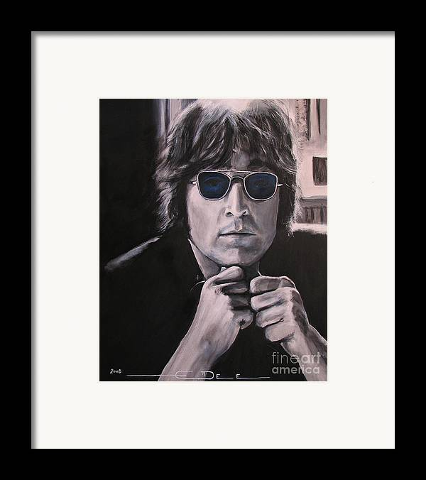John Lennon Framed Print featuring the painting JL1 by Eric Dee