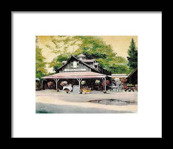 Landscape Framed Print featuring the painting Jo-anne's Market by Barry Smith