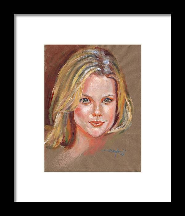Portrait Framed Print featuring the painting Joanna by Horacio Prada