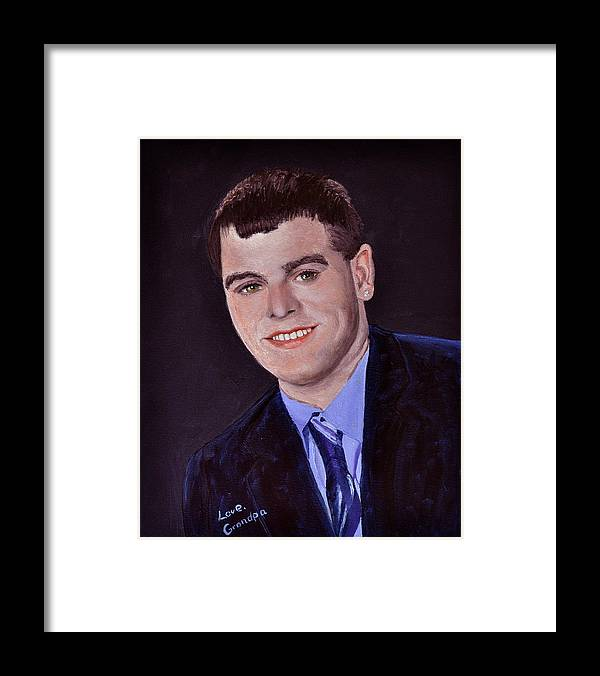 Joey Framed Print featuring the painting Joey at 18 by Stan Hamilton