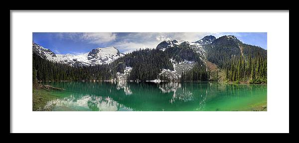 Joffre Framed Print featuring the photograph Joffre Lake Middle Panorama B.c Canada by Pierre Leclerc Photography