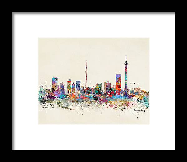 Johannesburg Skyline Framed Print by Bri Buckley